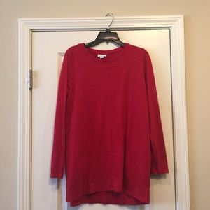 J Jill Red Tunic Size Medium